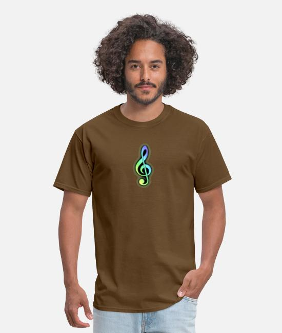 Guitar T-Shirts - G music key - Men's T-Shirt brown