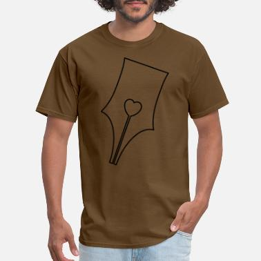 Fountain heart nib - Men's T-Shirt
