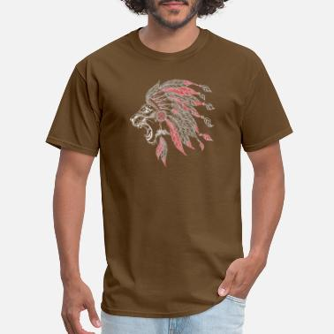 Reserve Native Lion American Indian Plumage - Men's T-Shirt