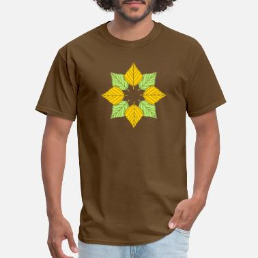Plant A Tree many leaves colorful autumn silhouette star shape - Men's T-Shirt