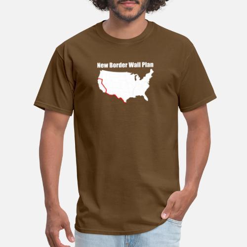 Funny Border Wall T Shirt Funny Anti Liberal T Shirt Men S T Shirt