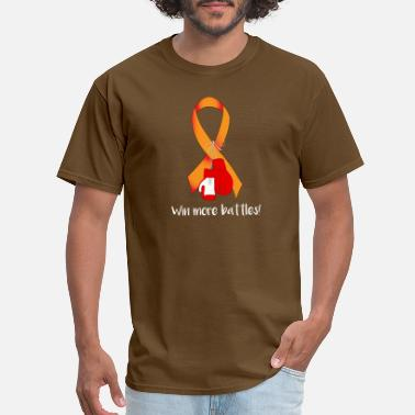 Power Drill orange ribbon cancer FIGHT BOX GLOVES POWER GIFT - Men's T-Shirt