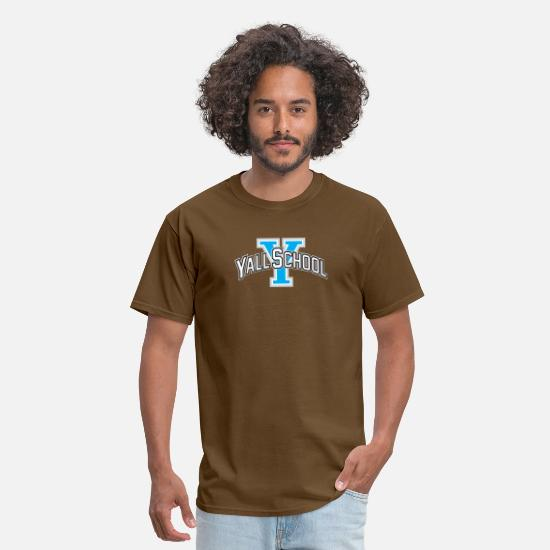 Southern T-Shirts - Funny Yall University Southern Country Life - Men's T-Shirt brown