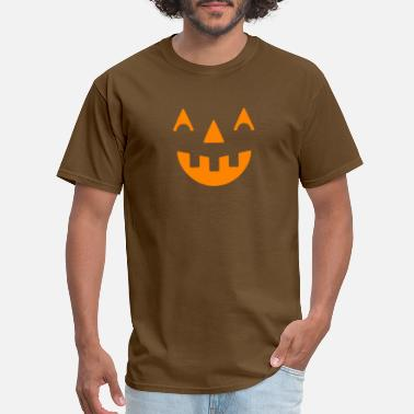 Halloween Smiley Halloween pumpkin happy orange face - Men's T-Shirt