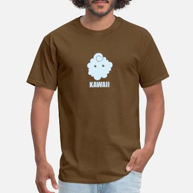 Japanese Fashion cute kawaii cloud eyes only - Men's T-Shirt