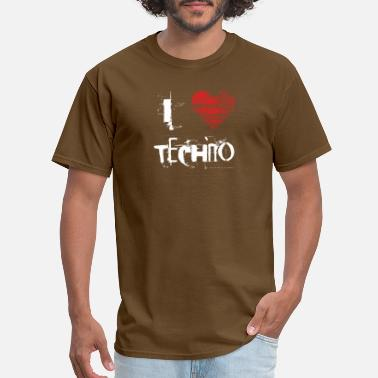 Hard Techno I love techno rave goa hardtek hard - Men's T-Shirt