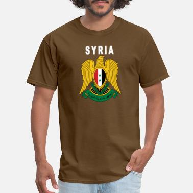 Eagle Pride Syrian National Pride Eagle Emblem - Men's T-Shirt