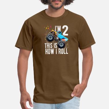 12ca2b850 Kids 2 Year Old Shirt 2nd Birthday Boy Monster Tru - Men's