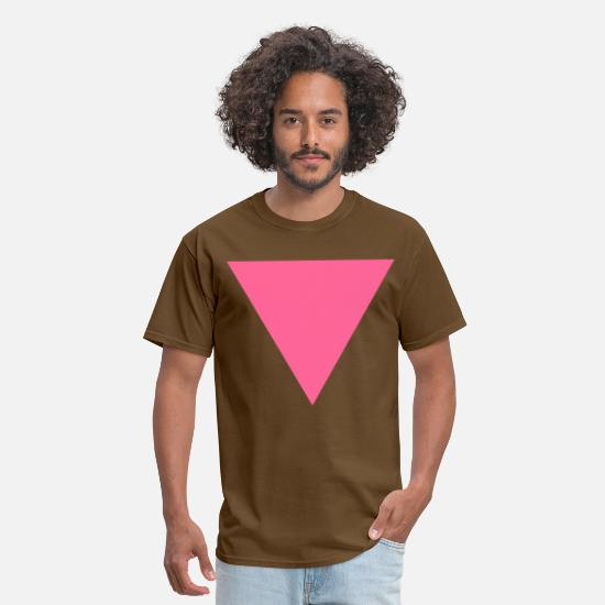 Triangle T-Shirts - Pink Triangle - Men's T-Shirt brown