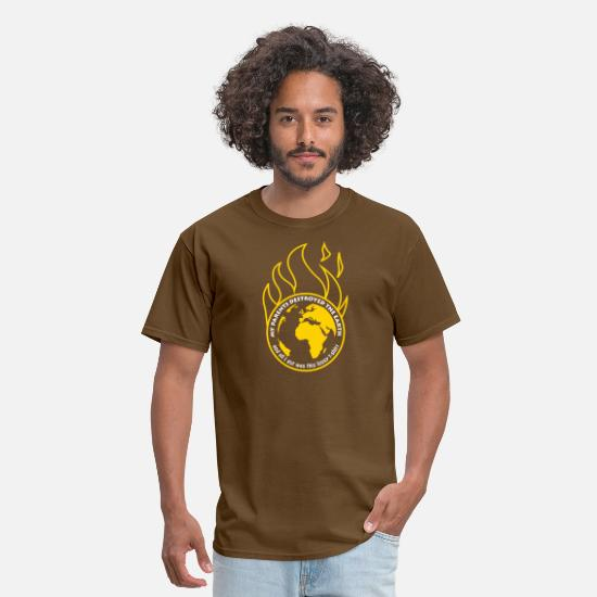 Climate Change T-Shirts - My parents destroyed the Earth alt - Men's T-Shirt brown