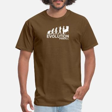 Ape Man Evolution Of Man From Ape To Pinball - Men's T-Shirt