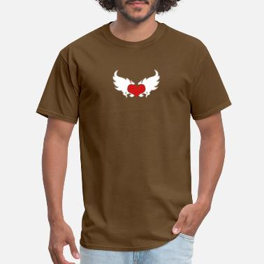 Heart-in-flames-hearts A Flaming Heart - Men's T-Shirt