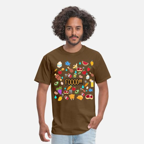 Food Chain T-Shirts - food - Men's T-Shirt brown