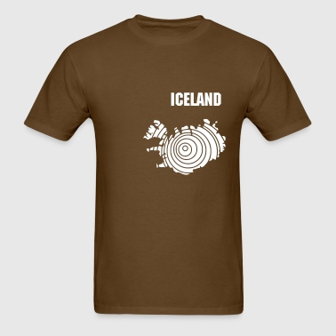 Iceland map in rings - Men's T-Shirt