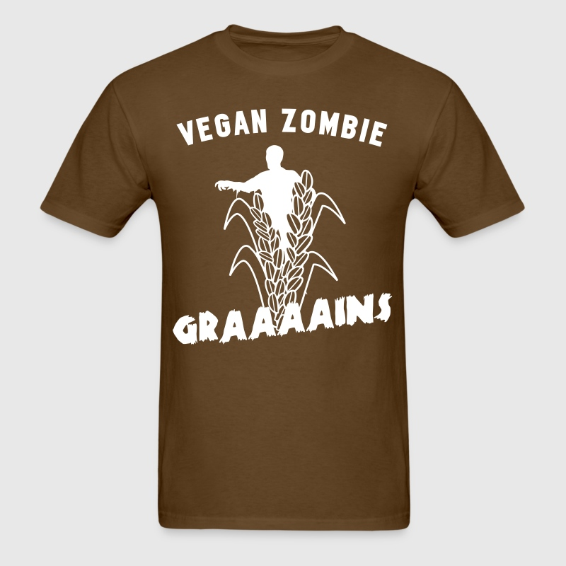 Vegan zombie wants grains - Men's T-Shirt