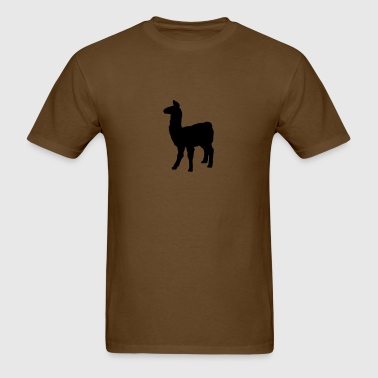 llama domesticated pack animal camel family Andes  - Men's T-Shirt