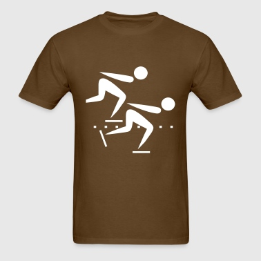speed skating - Men's T-Shirt