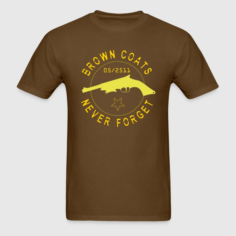 Brown Coats Never Forget - Men's T-Shirt