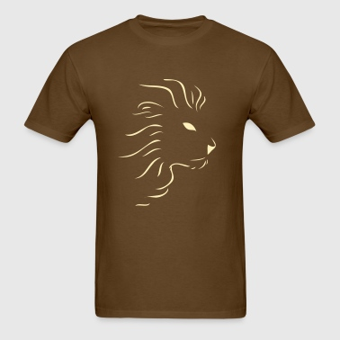 Brown Tee Lion - Men's T-Shirt