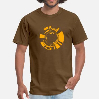 Flex Print Flex Computer tech circles FLEX Print - Men's T-Shirt