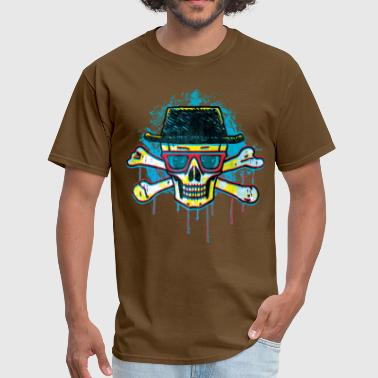 Pork Pie Hat Skull - Men's T-Shirt