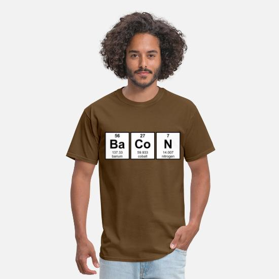 Atom T-Shirts - Bacon Periodic Table Element Symbols - Men's T-Shirt brown