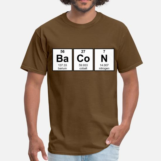 76e4ccde Bacon Periodic Table Element Symbols Men's T-Shirt | Spreadshirt