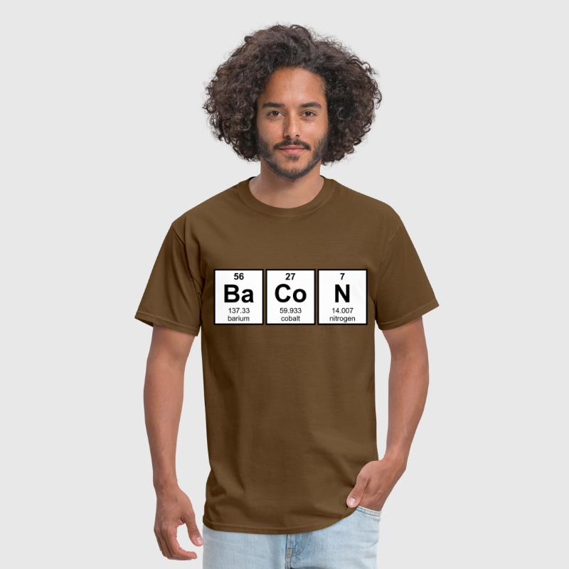Bacon periodic table element symbols by the shirt yurt spreadshirt bacon periodic table element symbols mens t shirt urtaz Images