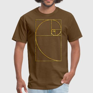 Golden Ratio Golden Ratio Sacred Fibonacci Spiral - Men's T-Shirt