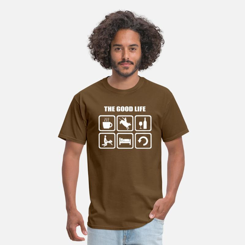 Lust T-Shirts - Rodeo The Good Life - Men's T-Shirt brown