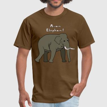 asian elephant - Men's T-Shirt
