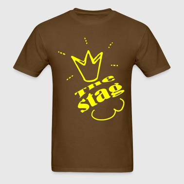 bachelorep arty the stag Yello , By FabSpark - Men's T-Shirt