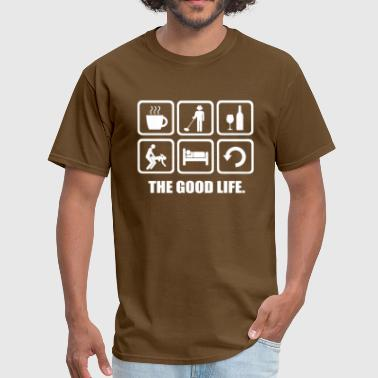Metal Joke Metal Detecting The Good Life Rude Joke Shirt - Men's T-Shirt