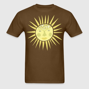 sun face - Men's T-Shirt