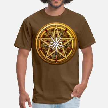 Red Dagger Swords & Daggers Pentacle - Men's T-Shirt