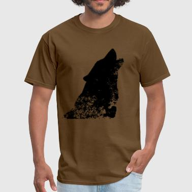 Distressed Wolf - Men's T-Shirt