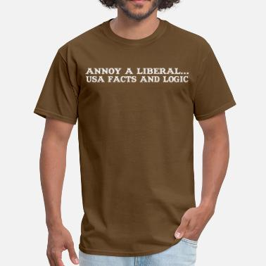 Logic Geek Annoy a liberal usa facts and logic - Men's T-Shirt