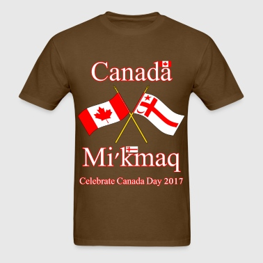 DUAL FLAGS CANADA DAY 2017 - Men's T-Shirt