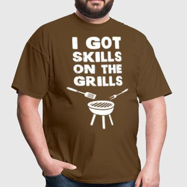 I Got Skills on the Grills Cookout BBQ - Men's T-Shirt