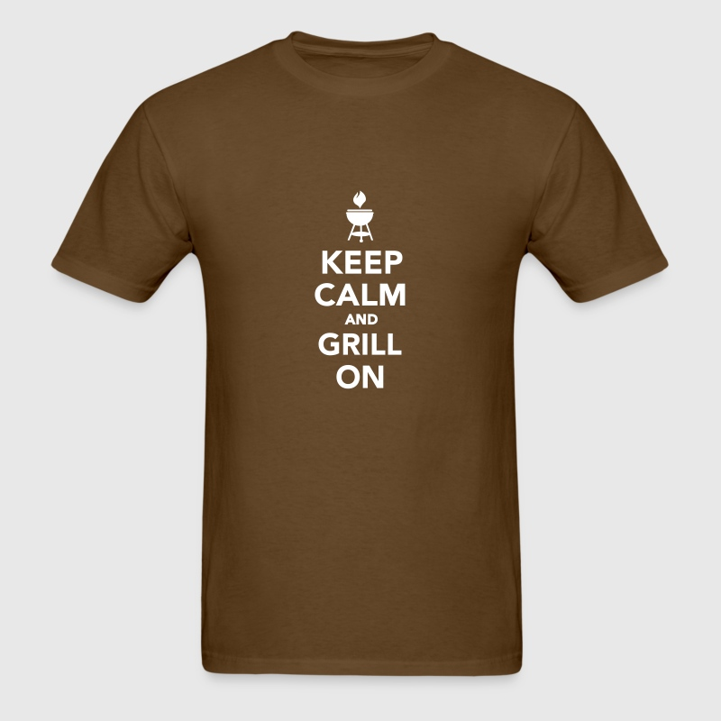 Keep calm and grill on - Men's T-Shirt