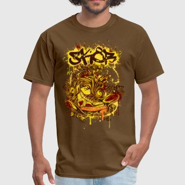 Rotten to the score - grafitti design skateboard - Men's T-Shirt