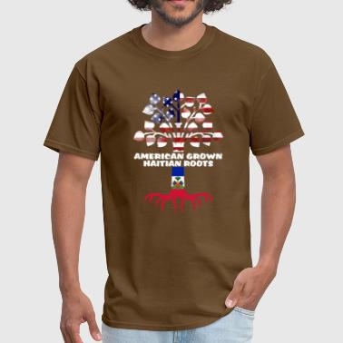 American Grown Haitian Roots - Men's T-Shirt