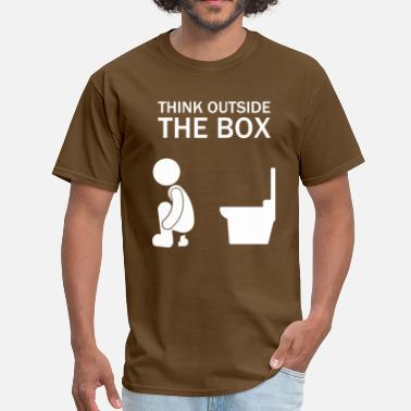 Poop think_outside_the_box_funny - Men's T-Shirt