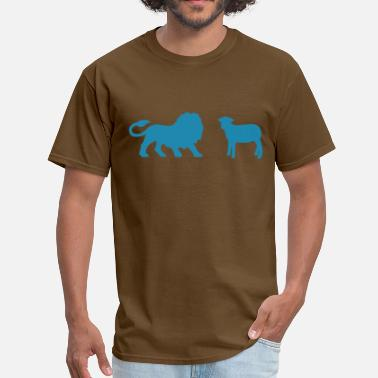 Lamb Lion and the Lamb - Men's T-Shirt
