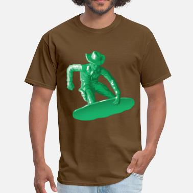 Toy Soldier Green snowboarding toy green - Men's T-Shirt