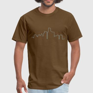 Detroit Skyline Outline - Men's T-Shirt