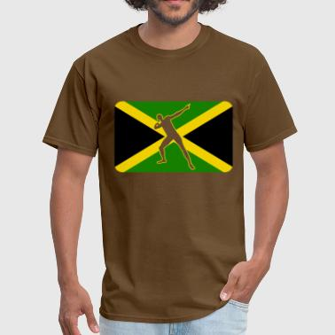 Bolt Pose Usain Bolt Jamaica - Men's T-Shirt