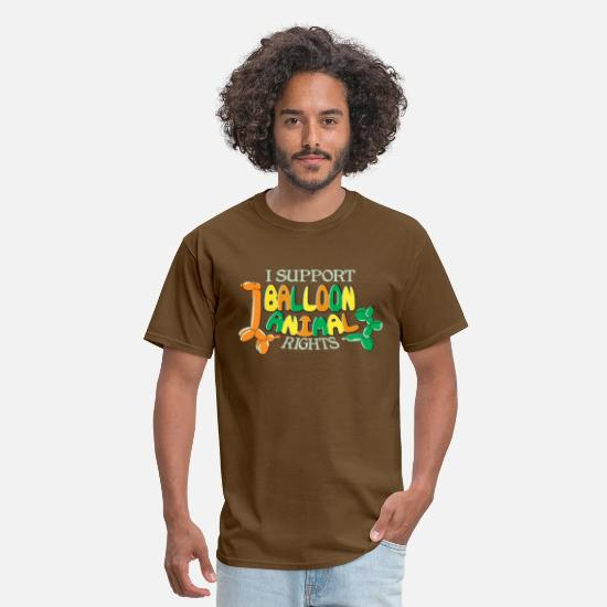Balloon T-Shirts - I support balloon animal rights - Men's T-Shirt brown