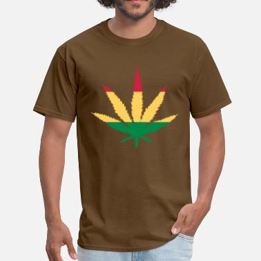 Bob Marijuana Leaf Rasta - Men's T-Shirt