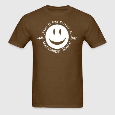 Recumbent Smile (white) - Men's T-Shirt